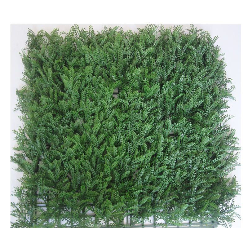 artificial green leave wall plant hedge mat decoration wicker fence