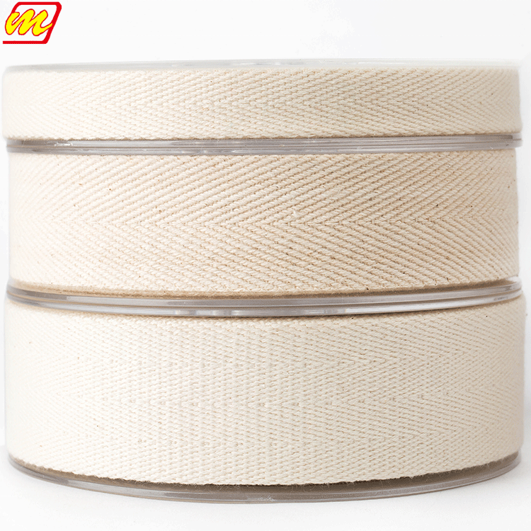 Eco-friendly and non-toxic cotton plain printed webbing