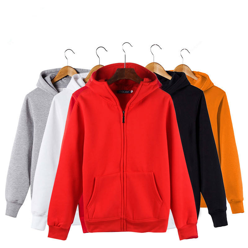 wholesale custom 100% cotton zip up cotton unisex pullover hoodies clothing