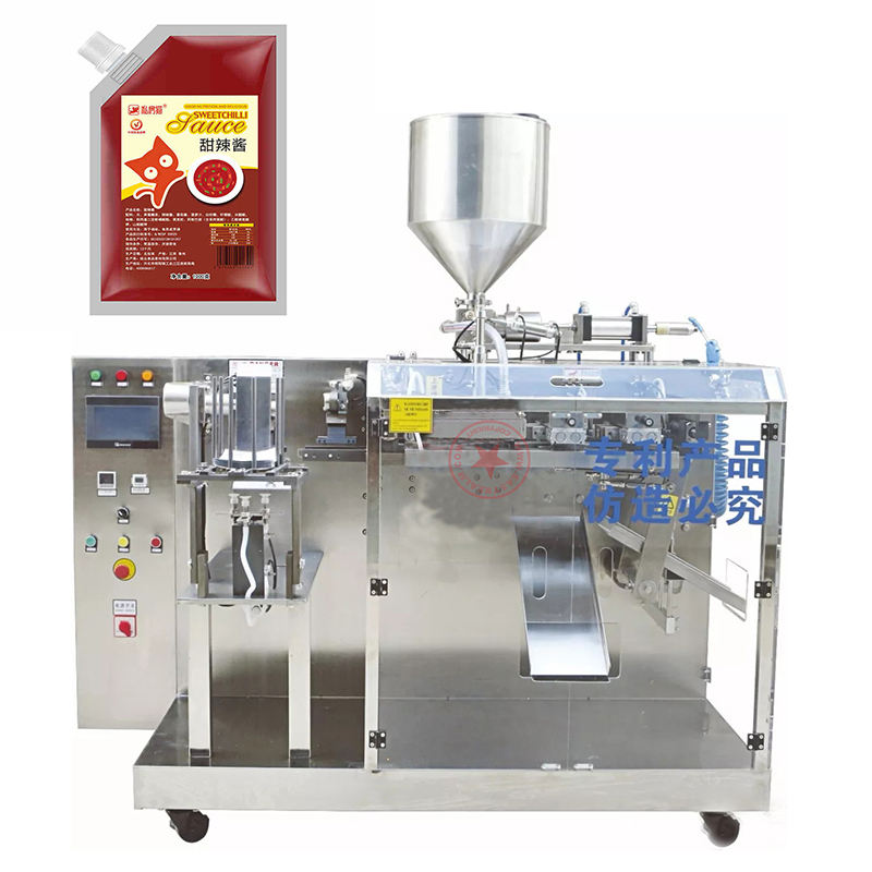 Small Automatic Doypack Filling Machine Pasta Sauce BBQ Ketchup Sauce Paste Cream Liquid StandアップSpout Pouch Filling Machines