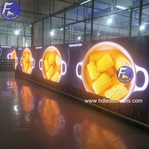 Coperta curvo video display A Led Video Wall P2.5 annunci schermo a led ha portato a bordo