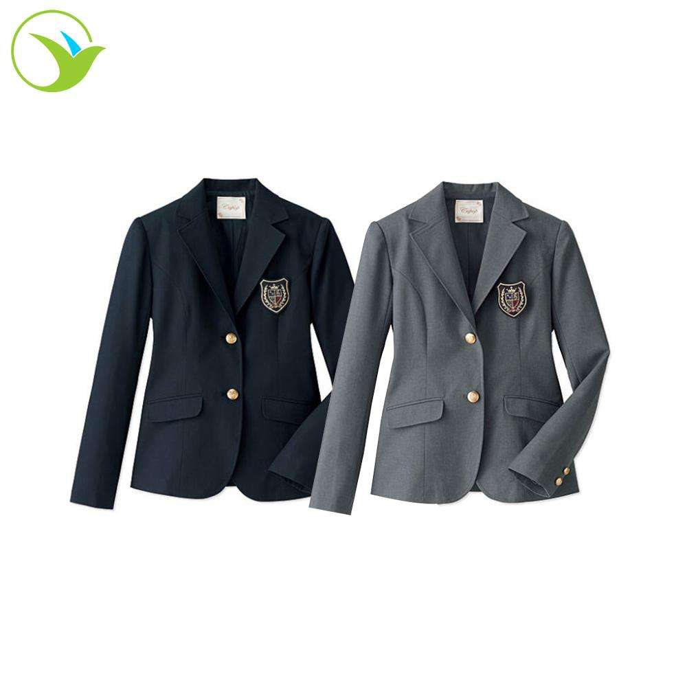 Manufacture Custom Own Size Logo Japanese Student Autumn Winter Kids Blazer For School Uniform Coat