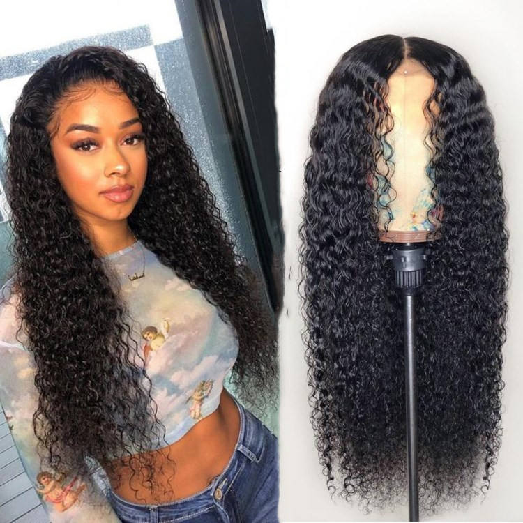 2020 Hot Models High Quality Virgin Human Hair Lace Front curly afro hair synthetic wigs