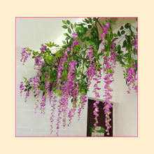 Artificial flower wisteria bulk artificial flower for decoration wall flowers