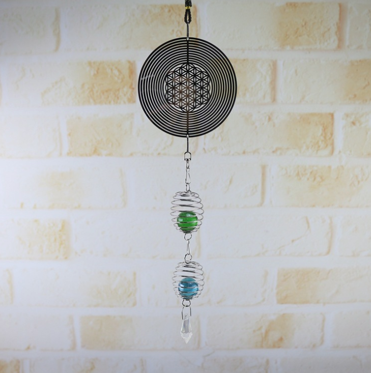 New DIY rotating wind chimes creative personality novelty metal ornament crafts