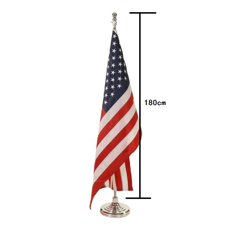Outdoor metal telescopic flag pole high quality convenient collection prevent winding flag pole holder
