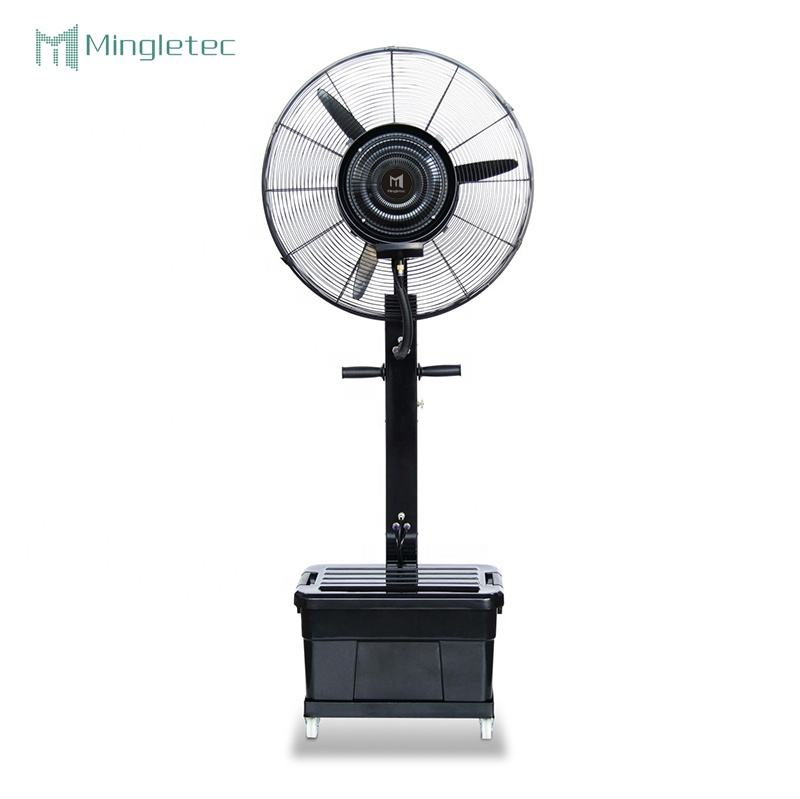 26 30 inch wholesale powerful outdoor industrial air cooling electric mist fan with water spray factory stand fan