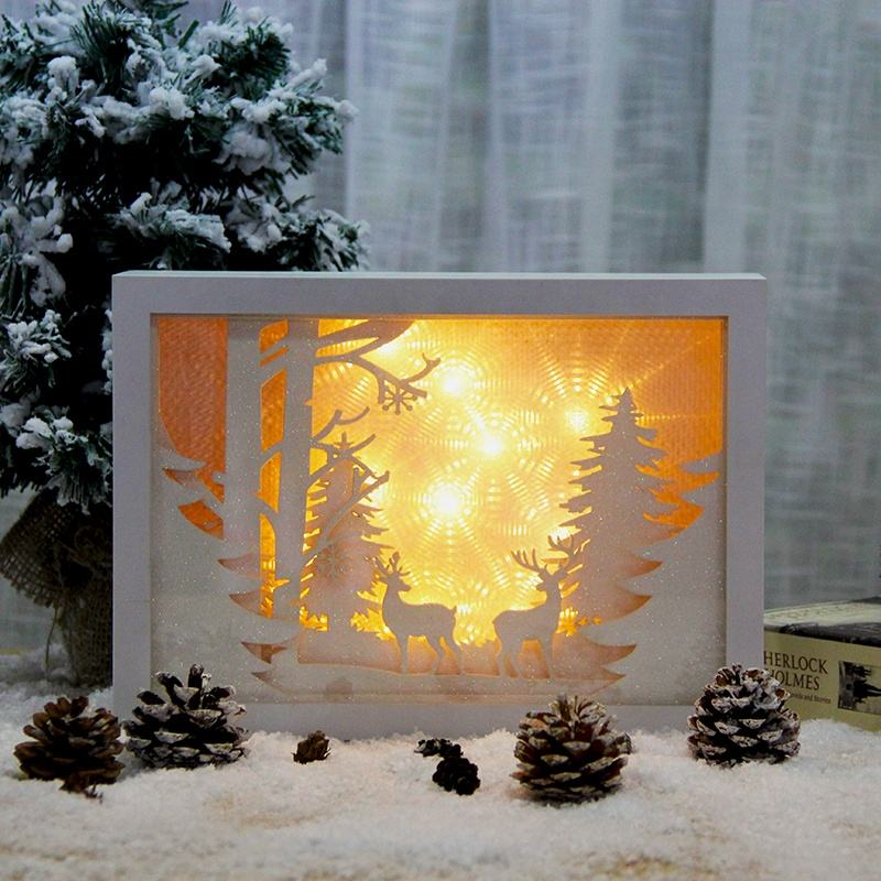 magic lantern christmas promotional gift 3d home decor