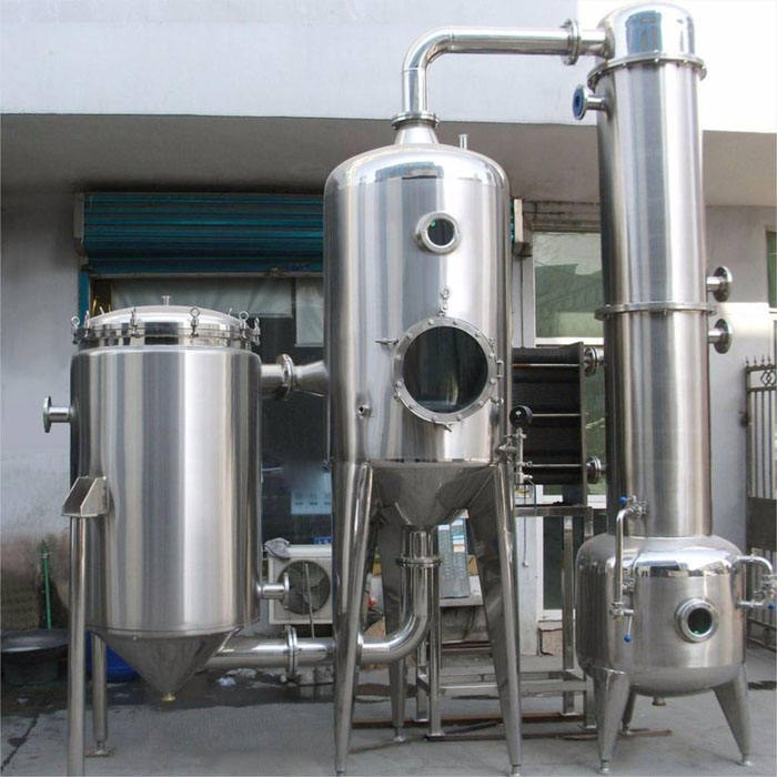Milk/juice evaporator