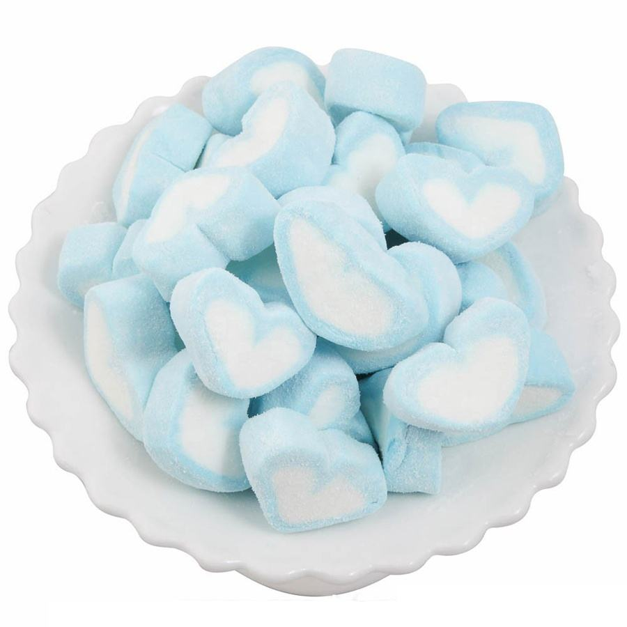 Pink and white marshmallow hearts bulk packing marshmallow candy