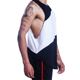 men gym blank stitching color cotton tank top black and white sleeveless t shirts in bulk
