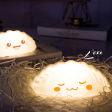 Eco friendly custom logo feature dumpling light bedroom table nursery night light for children