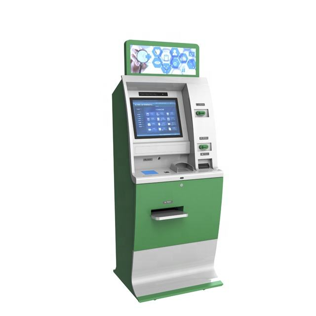 19inch Account Transfer Machine Terminal free standing payment kiosk cash acceptor coin machine Automatic Cash Dispenser