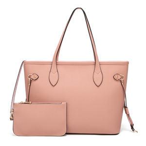 Pink Satchel Purses and Handbags for Women Shoulder Tote Bags Wallets Top Handle Messenger Hobo 2pcs Set