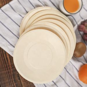 Food grade eco friendly round and square 8inch wood plates serving