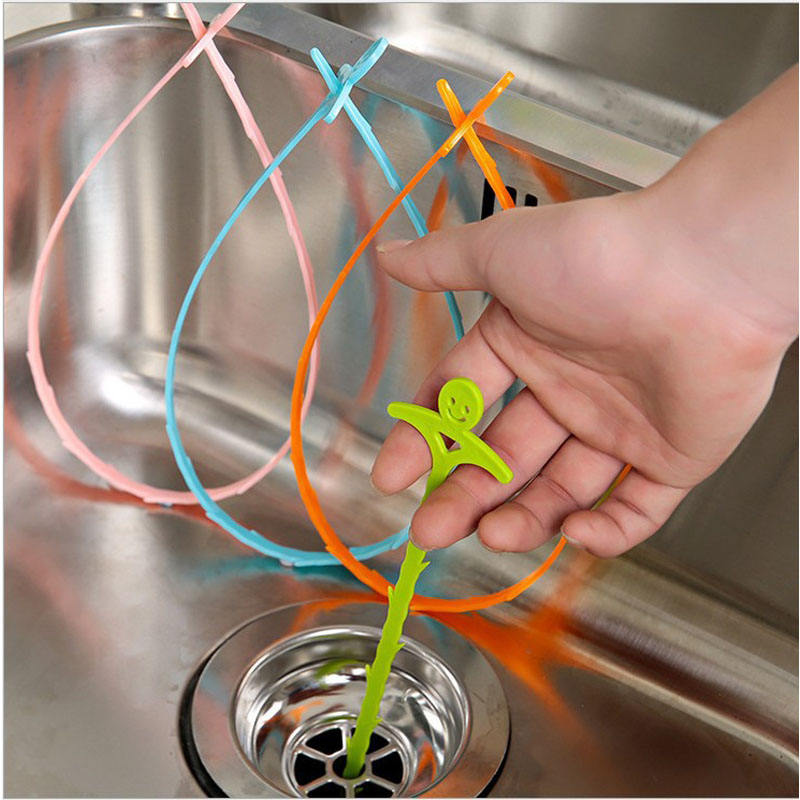 Sink Clogged Hair Cleaner Hook Sink Filter Hair Catcher Toilet Drain Cleaning Hook Practical Sink Cleaning Tools Kitchen Badgets