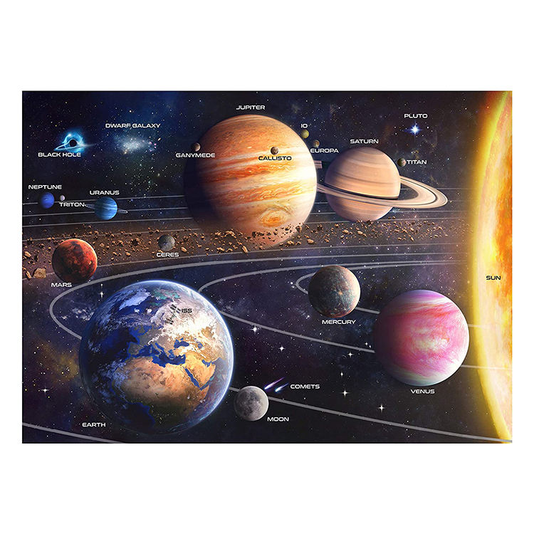 Custom solar system space puzzle jigsaw puzzle 1000 pieces manufacturer for adults