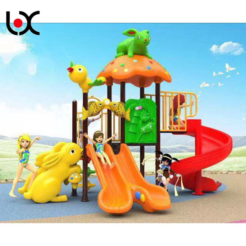 New product kids plastic games slide outdoor playground for amusement park