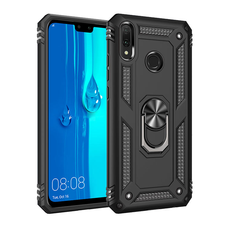 Luxury Universal Mobile TPU PC Kickstand Smart Phone Cover Case For Huawei Y9 2019 Enjoy 9 Plus Case