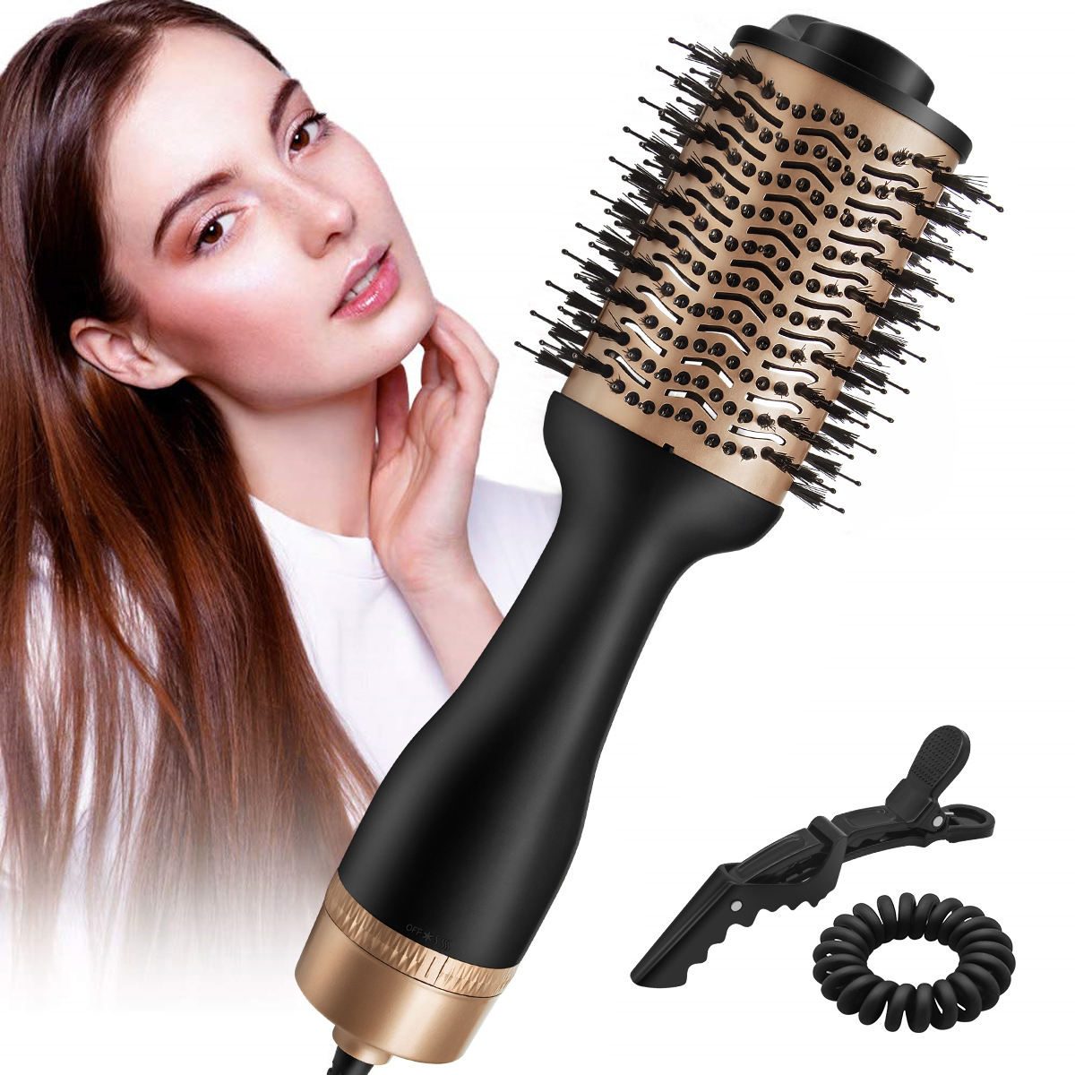 2020 Professional 5 In 1 Hair Dryer & Volumizing Brush 1200W One Step Hair Dryer And Styler Electric Hot Air Brush