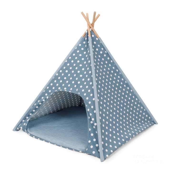 Integrated Easy to Carry Comfortable Four Sticks Pet Teepee Cat Tent
