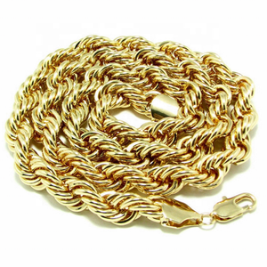 Hip Hop Jewelry 10MM 36inch Silver Gold Rope Chain Twist Rope Chain