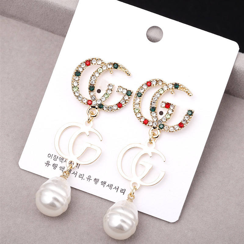 Amazon G Initial Stud Earrings,Jewelry Earrings Set Girls Women's Drop & Dangle Earrings