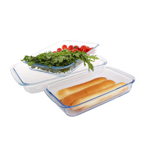 high borosilicate glass dinner set plate oven microwave safe plates