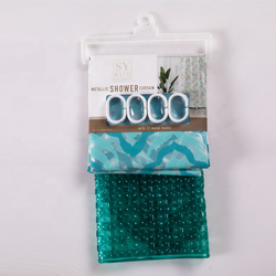 shower curtain set/PVC mat