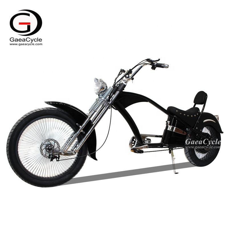 Gaea vintage electric bike eu warehouse electric bike 48v battery electric chopper bicycle