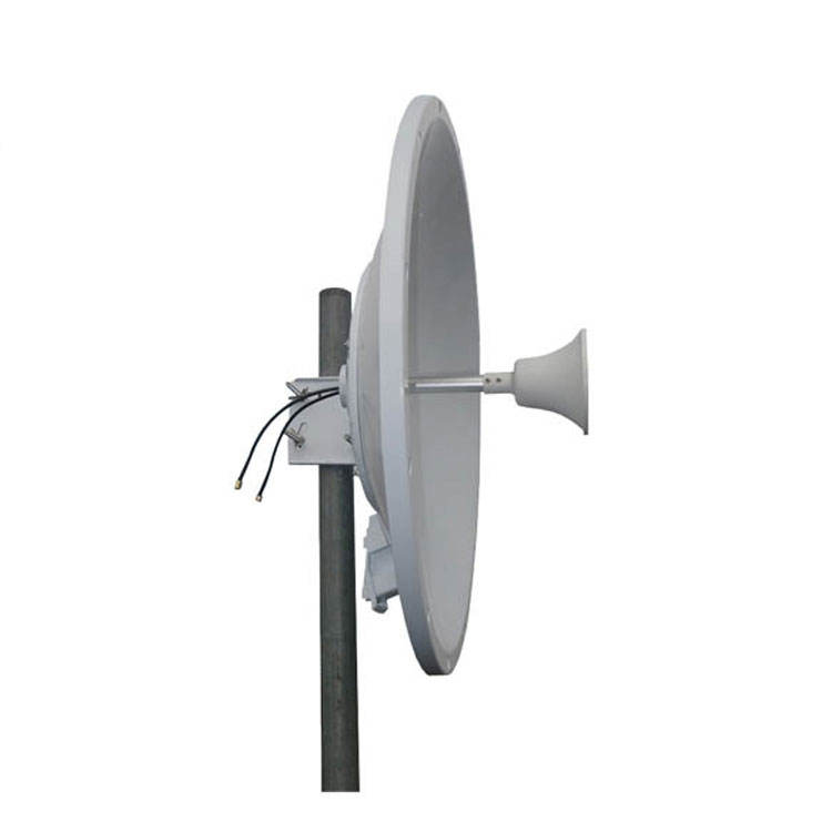 LTE 4G Satellite 2x2 Mimo Antenna , Outdoor Dish Antenna