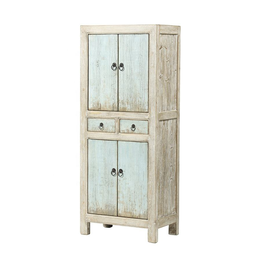 chinese antique recycled wood bedroom furniture shabby chic classic distressed style Armoires Closet Wardrobe