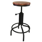 Vintage industrial antique indoor adjustable swivel metal frame high chair bar