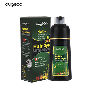 wholesale manufacturer new brand best herbal care hair 500ml permanent ammonia free fast black herbal hair dye color shampoo
