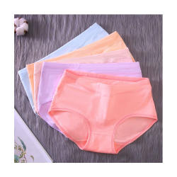 Women's Cotton Underwear High Waist Panties Tummy Control Solid Briefs
