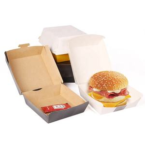 Eco-friendly di carta burger box, scatola di imballaggio burger box, scatola di Hamburger contenitore