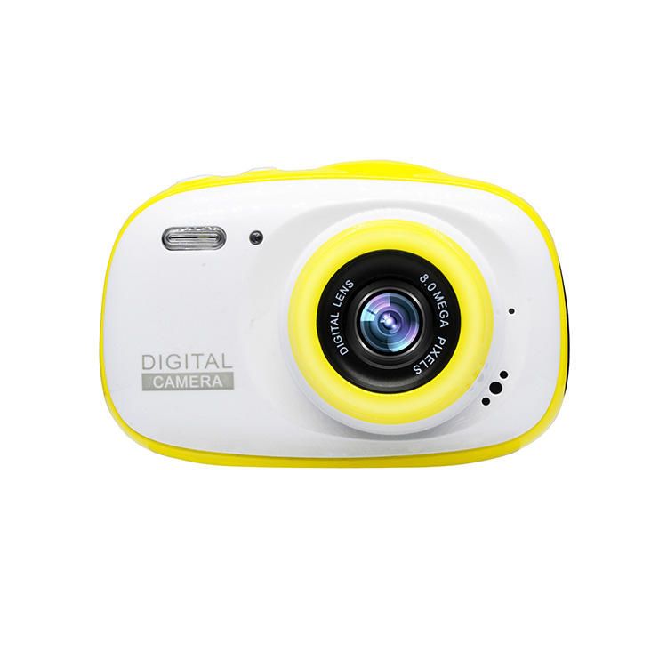 Wholesale kids toy yellow waterproof IP68 3M video digital camera for children