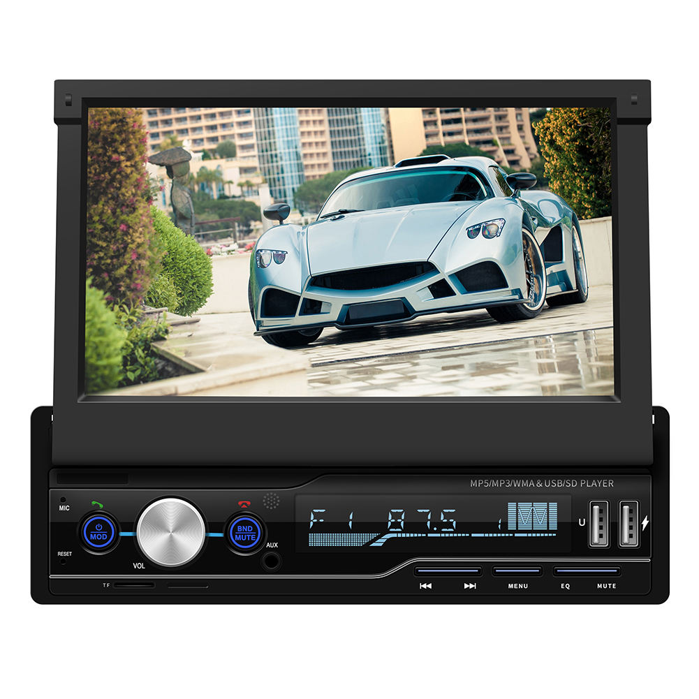 Spiegel link bluetooth auto stereo mp5 player FM/AM/RDS/SD /USB/AUX touchscreen 1 din 7 zoll auto radio