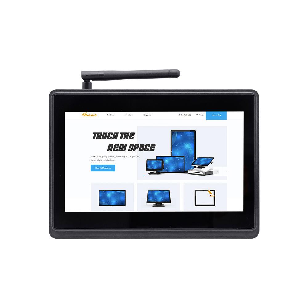 Trung Quốc Sản Xuất Điện Trở Màn Hình Cảm Ứng 7 Inch RS232 RS485 Cổng Di Động Không Quạt GSM Mini PC