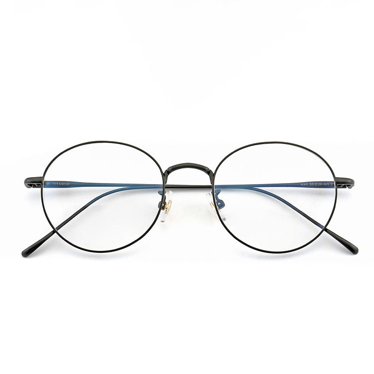 PG0288 Korean Retro Round B Titanium Frame Glasses Optical Eyeglasses Frames