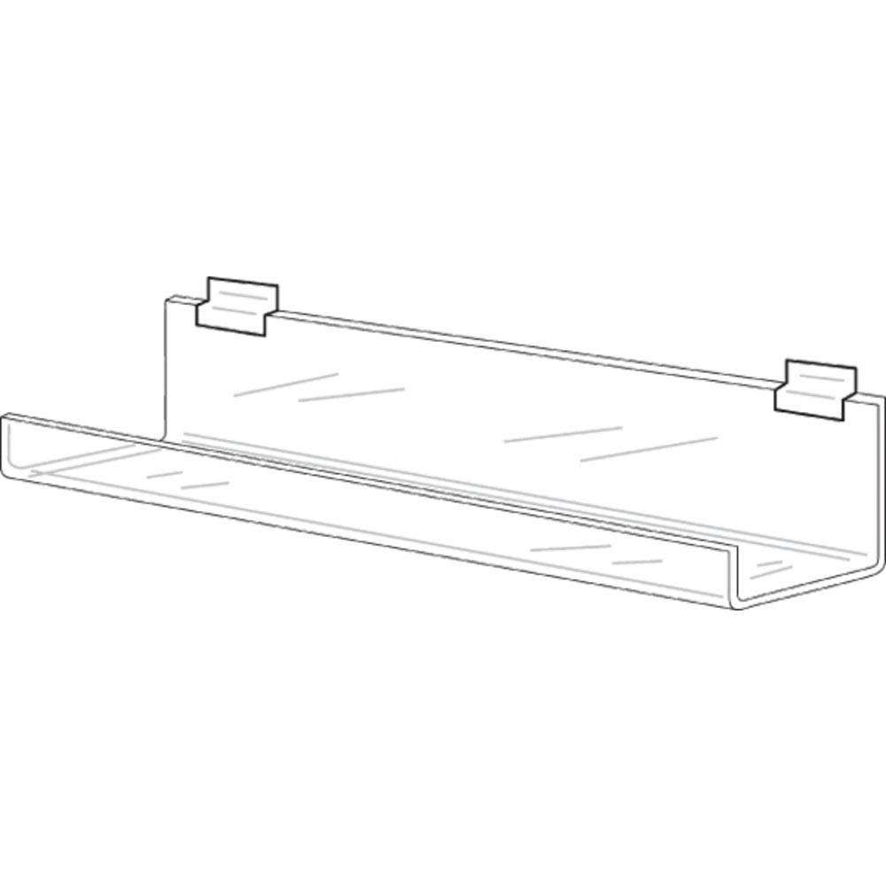Clear Acrylic Slatwall Shelf with Lip