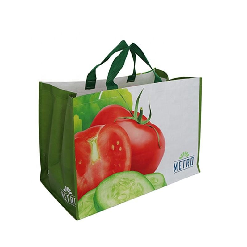 China manufacturer recycled eco friendly foldable pp woven reusable shopping bag