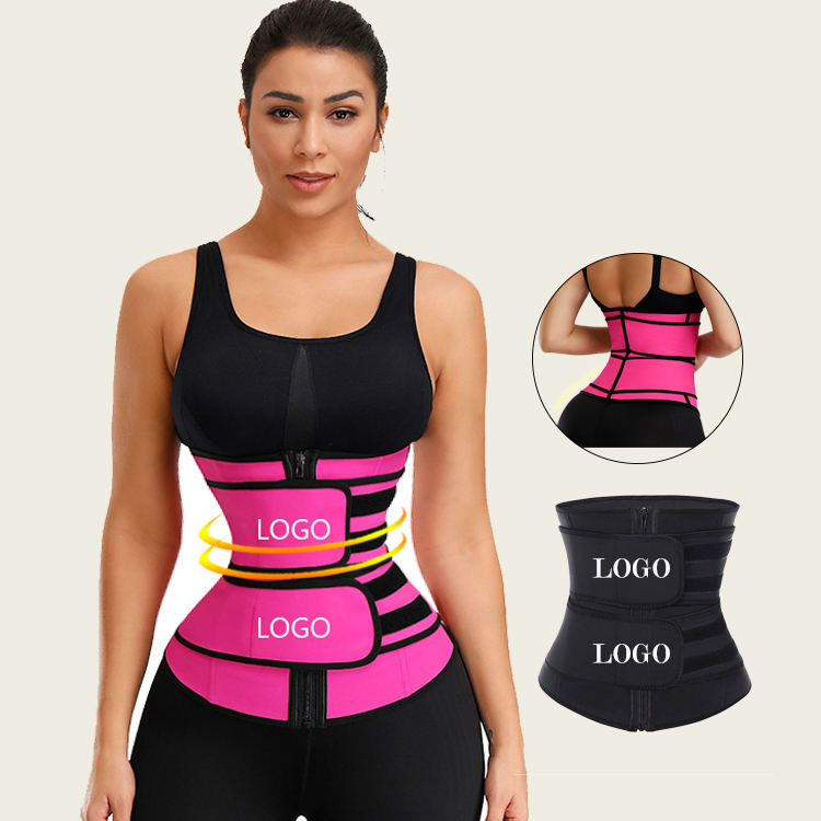 HEXIN Body Shaper Shapewear Double Compression Waist Trimmers Latex Waist Cincher Slimming Belts Tummy Trimmer Waist Trainer