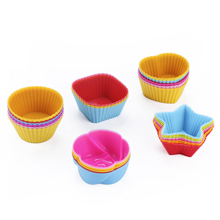 30Pcs Nonstick BPA Free Donut Pan Muffin Cupcake Silicone Baking Cups molds