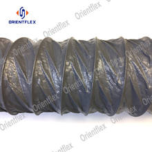 wire reinforced nylon fabric large 16 inch 24 inch flexible plastic duct hose flex ducting hose