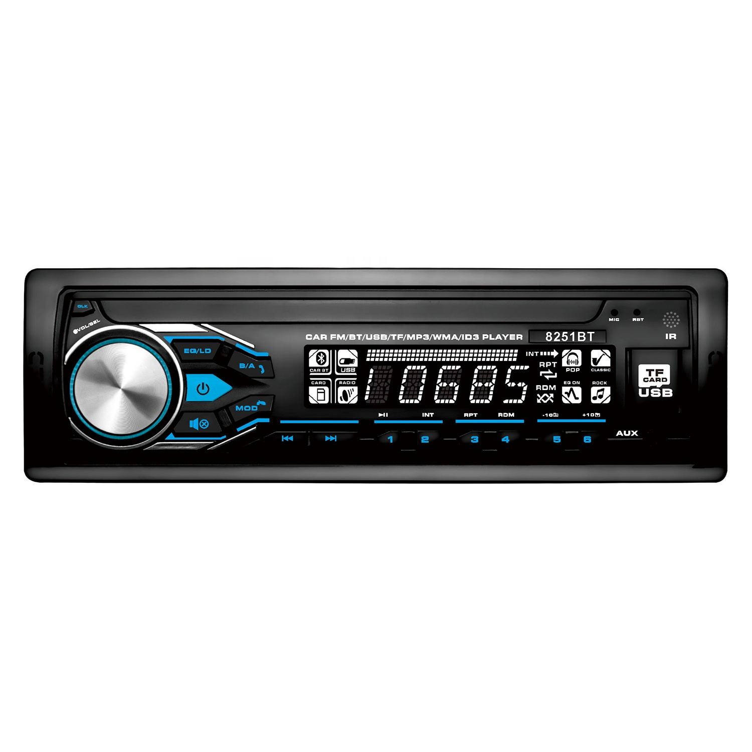 Pioneer Car Mp3 Player mit LCD-Display Auto DVD-Player mit BT Car Mp3 mit FM Car Audio Mp3 mit Aux In