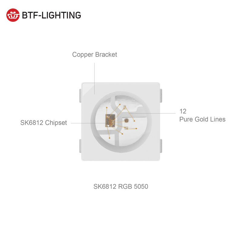 High quality individually addressable 5v rgb sk6812 3535 5050 led chip