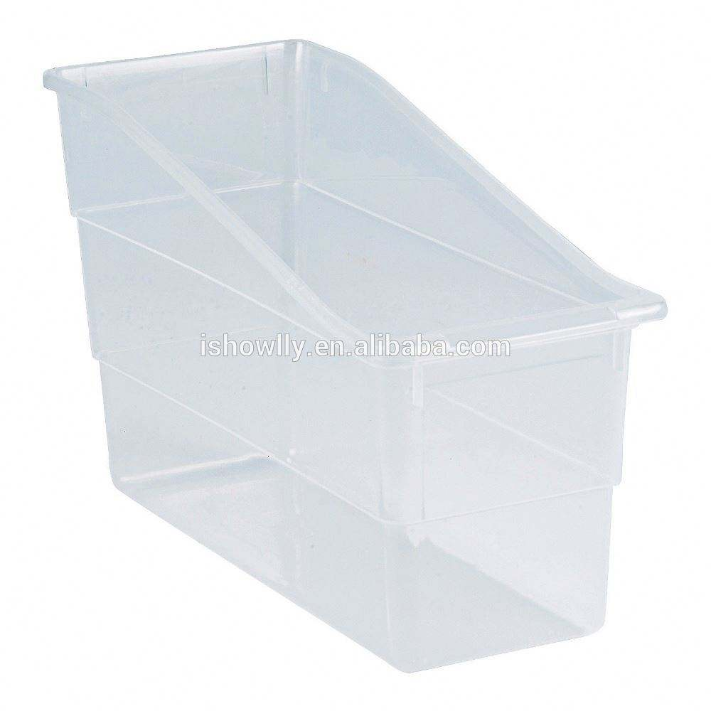 Home and Office Desk Stationery Book Holder Storage Pins Plastic Clear Classroom Book Organizers Tray Magazine Storage Tubs