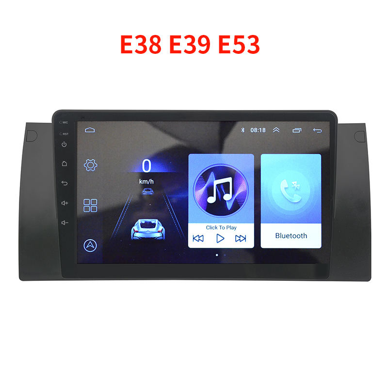 "9"" Android 9.0 quad core Car dvd player For BMW E38 E39 E53 with 1+16GB GPS video radio mirrorring BT"