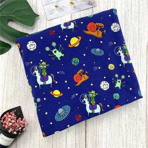 Custom print lycra cotton stretch fabric cotton printed fabric for baby